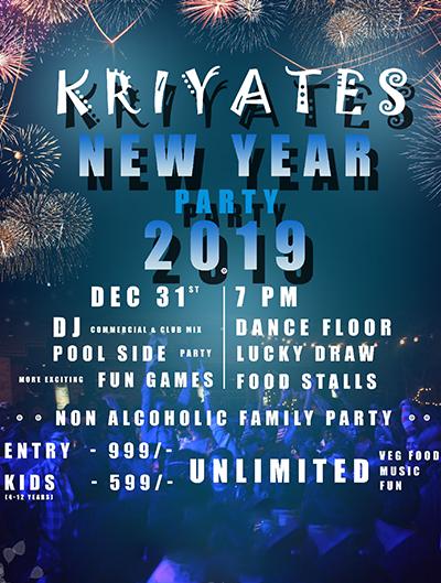KRIYATES NYE 2019