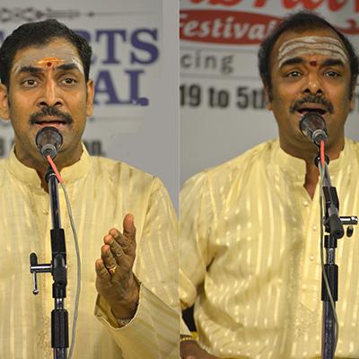 MUDHRA presents 25th FINE ARTS FESTIVAL on 19-12-2019 performing on 6.15 PM   Malladi Brothers Sriram Prasad and Ravikumar  - Vocal Duet  S.Varadarajan - Violin Umayalpuram K.Sivaraman - Mridangam Sree Sundarkumar  - Kanjira  Tickets Type Rates               Row Rs.200              M, N, O, P, Q Rs.500              H, I,J Rs.1000            E, F Rs.1500            A