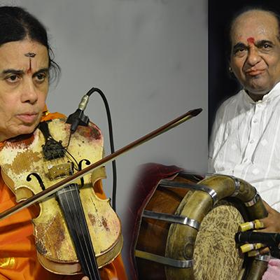 MUDHRA presents 25th FINE ARTS FESTIVAL on 17-12-19 performing on  6.15 PM  A.Kanyakumari & Embar Kannan - Violin Duet                Dr.Haridhwaramangalam A.K.Palanivel - Tavil                Patri Sathish Kumar - Mridangam   Tickets Type Rates                Row Rs.150              M, N, O, P, Q Rs.300              H, I,J Rs.500              E, F Rs.1000            A