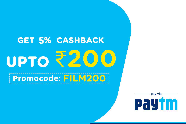 Get 5% Cashback upto Rs. 200 on ticket price